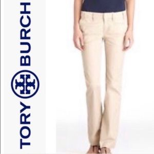 Tory Burch Fatigue Chino Mid-Rise Pant